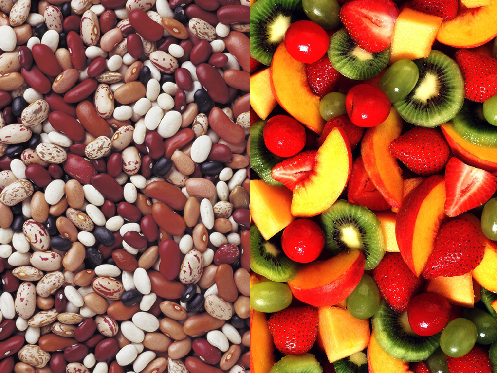 beans and fruit