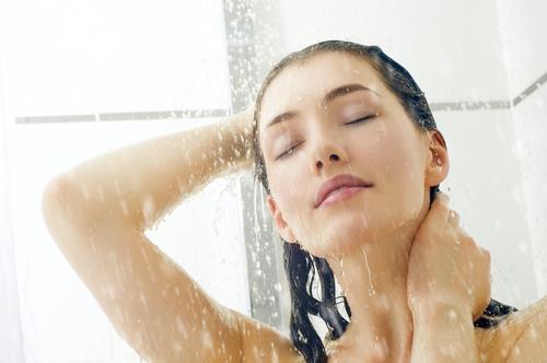 standing shower