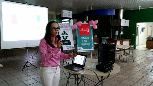 Semana de sipat da Arteflex conta com palestra rápida sobre câncer de mama